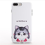 용 패턴 케이스 뒷면 커버 케이스 고양이 카툰 소프트 TPU 용 Apple 아이폰 7 플러스 아이폰 (7)