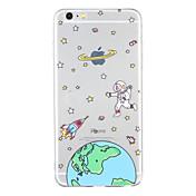 용 패턴 케이스 뒷면 커버 케이스 카툰 소프트 TPU 용 Apple iPhone 6s Plus iPhone 6 Plus iPhone 6s 아이폰 6 iPhone SE/5s iPhone 5