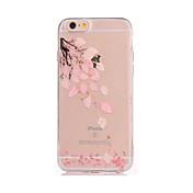 용 DIY 케이스 뒷면 커버 케이스 꽃장식 소프트 TPU 용 Apple 아이폰 7 플러스 아이폰 (7) iPhone 6s Plus iPhone 6 Plus iPhone 6s 아이폰 6 iPhone SE/5s iPhone 5