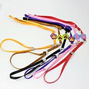 사탕 개 목걸이 애완 동물 견인 로프 개 발톱 인쇄 나일론 로프 개 목걸이 고양이 개 하네스 애완 동물 도매 공급 판매