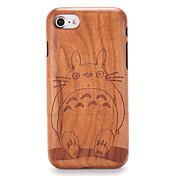 용 케이스 커버 엠보싱 텍스쳐 패턴 뒷면 커버 케이스 나무결 카툰 하드 나무 용 Apple 아이폰 7 플러스 아이폰 (7) iPhone 6s Plus iPhone 6 Plus iPhone 6s 아이폰 6