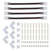 led 스트립 커넥터 및 장착 브래킷 5050 rgb 스트립 광 커넥터 l 모양 solderless 스냅 다운 4 도체 led 직각 코넥터 용 rgb 커넥터