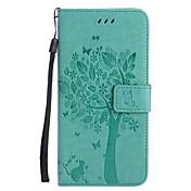 애플 아이폰 7 플러스 7 pu 가죽 고양이와 나무 패턴 전화 케이스 6s 플러스 6 plus 6s 6 se 5s 5 5c 4s 4