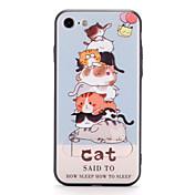 애플 아이폰 7에 대 한 7plus 케이스 커버 스탠드 패턴 다시 커버 케이스 고양이 하드 pc 6s 플러스 6 플러스 6s 6