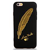 Para el iphone de la manzana 7 más el caso de la contraportada del patrón de la cubierta del caso empluma el tpu suave 6s más 6plus 6s 6