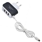 홈 충전기 휴대용 충전기 휴대폰 3 USB 포트 EU 플러그