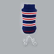Hund Pullover Hundekleidung Lässig/Alltäglich Streifen Rot Blau