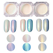 2g/box Shinning Nail Glitter Set Pearl Effect Powder Powder Manicure DIY Nail Art Glitter Powder