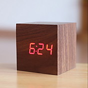 디지털 나무 알람 시계,LED
