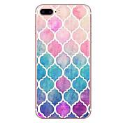 애플 아이폰 7 7 플러스 6s 6 플러스 케이스 커버 다이아몬드 패턴 hd 페인트 tpu 소재 소프트 케이스 전화 케이스