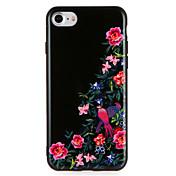 애플 iphone7에 대 한 경우 플러스 꽃 동물 패턴 하드 pc 아이폰 6s 플러스 6 플러스 6s 6