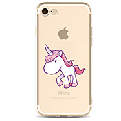 애플 아이폰 7 7 플러스 6s 6 플러스 케이스 커버 유니콘 패턴은 높은 침투 tpu 소재 소프트 케이스를 그린 전화 케이스