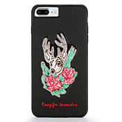애플 iphone7 7 플러스 케이스 커버 패턴 뒷면 커버 케이스 동물의 꽃 하드 PC 6s 플러스 6 플러스 6s 6