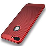 Para iPhone 8 iPhone 8 Plus Carcasa Funda Ultrafina Cubierta Trasera Funda Color sólido Dura Policarbonato para Apple iPhone 8 Plus