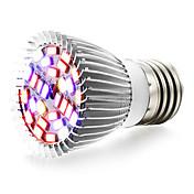 10W E27 Luces LED para Crecimiento Vegetal 28 SMD 5730 800 lm Blanco Cálido Rojo Azul UV (Luz Negra) V 1 pieza