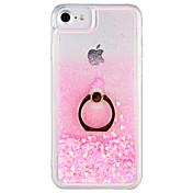 Caso para el iphone de la manzana 7 más la cubierta dura de la contraportada del sostenedor del anillo del caso de la cubierta del iphone