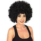 Pelucas sintéticas Sin Tapa Medio Rizado Negro Azabache Peluca afroamericana Para mujeres de color Peluca de cosplay Las pelucas del traje