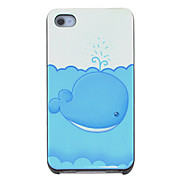 Cute Whale Pattern Hard Case for iPhone 4/4S