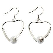 Peach Grinding Ball 925 Silver Earring