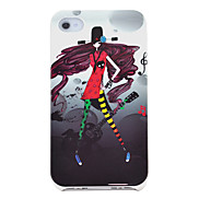 Cartoon Girl in Red Pattern Hard Case for iPhone 4/4S