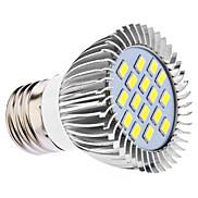 E26/E27 LED Spotlight MR16 16 SMD 5630 450 lm Natural White AC 110-130 AC 220-240 V