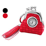 Women's and Girl's Bag Pattern PU Analog Quartz Keychain Watch (Assorted Colors) Cool Watches Unique Watches