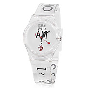 Women's Rubber Analog Quartz Wrist Watch (Transparent)