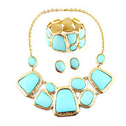 Exquisite Golden Plated Geometry Necklace Jewelry Set(1 Package)