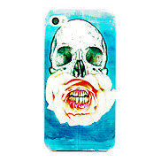 Chinese Rose Skulls Pattern Back Case for iPhone 4/4S