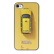 Istanbul Taxi Pattern Yellow Back Case for iPhone 4/4S