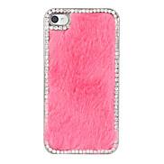 Diamond Plush Pattern Back Case for iPhone 4/4S