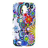 Colorful Different Flowers Pattern Soft Case for Samsung Galaxy S4 I9500