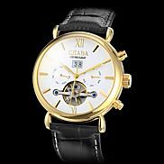 Men's Gold Case Calendar Function PU Analog Mechanical Wrist Watch (Assorted Colors) Cool Watch Unique Watch Fashion Watch