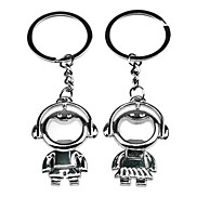 1 Pair Cute Music Couple Style Metal Lovers Keychain