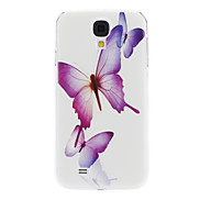 For Samsung Galaxy Case Pattern Case Back Cover Case Butterfly PC Samsung S4