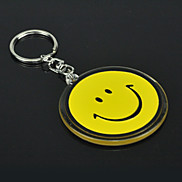 Smile Face Yellow Metal Keychain