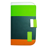 Four Color PU Leather Full Body Case with Stand for Samsung Galaxy S4 I9500