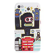 Gibbon Robot Pattern Hard Case for iPhone 4/4S