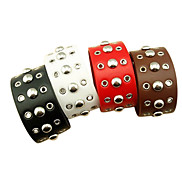 Eruner®European Round Rivet Leather Bracelet (Assorted Color)
