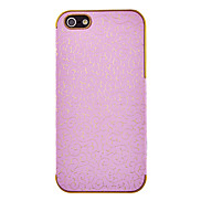 Deluxe Palace Embossed Leather Gold Frame Case for iPhone 5G