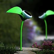 Set of 2 UFO Solar Flower Light Garden Pathway Garden Walkway Fence Lamp