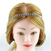 Fashion Silver Brass Rhinestone Headbands For Women (Silver)(1Pc)