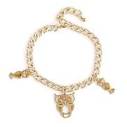 Classic Chain With Owl  Pendant Women'S Metal Bracelet(1 Pc)