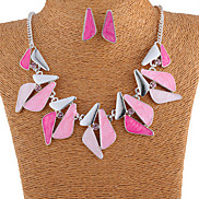 Statement Colorful Oildrip Diamanted  Alloy (Necklaces&Earrings&) Gemstone Jewelry Sets(More Color)
