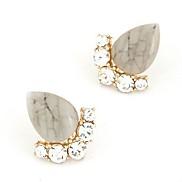 OL Ladies Temperament Diamond Opal Droplets Earrings