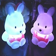 Coway Turnip Rabbit Colorful LED Night Light Cute Little Rabbit Wedding Supplies
