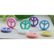 Z&X®  DIY Beads Material Ice Cream Color Peace Signal Beads 50 PCS(Random Color, Pattern)