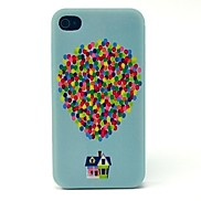 Balloon Flying House Pattern Hard Case for iPhone 4/4S