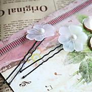 Fashion Beautiful Pearl Flower Black Alloy Hairpins(1 Pc)