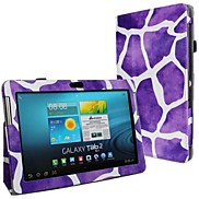 New Leopard Print PU Leather Full Body Case with Strap and Sticker for Samsung Galaxy Tab 2 P5100